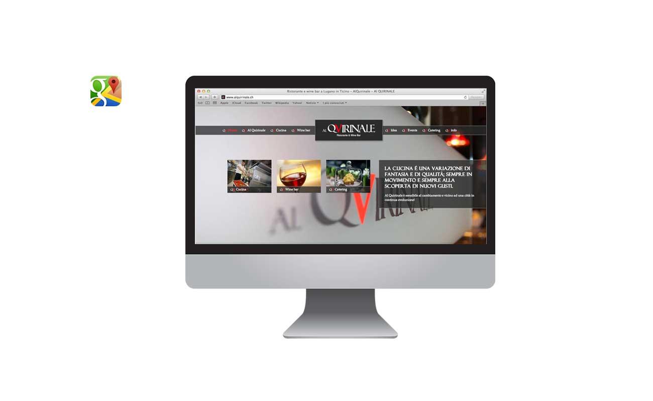 Siti web ticino: al quirinale ristorante lugano