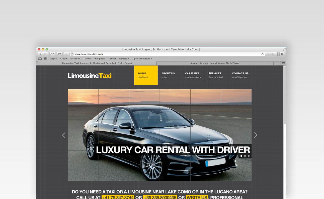 Siti web ticino: limousine taxi